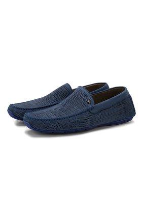 Мужские кожаные мокасины ALDO BRUE синего цвета, арт. AB0010G-NS   Фото 1