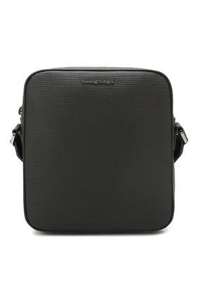 Мужская кожаная сумка ERMENEGILDO ZEGNA черного цвета, арт. C1515J-LHJAK | Фото 1