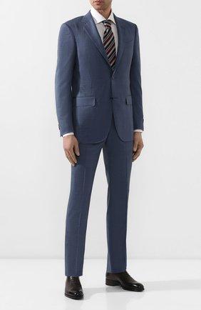 Мужской костюм из смеси шерсти и шелка ERMENEGILDO ZEGNA синего цвета, арт. 716581/221225 | Фото 1