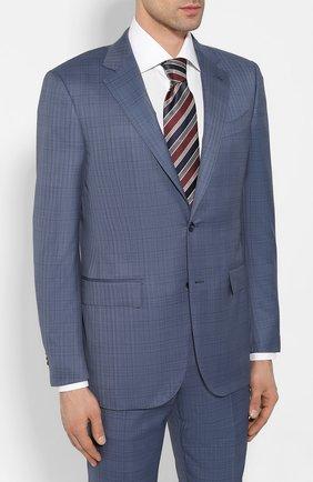 Мужской костюм из смеси шерсти и шелка ERMENEGILDO ZEGNA синего цвета, арт. 716581/221225 | Фото 2