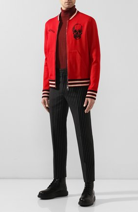 Мужской шерстяные брюки ALEXANDER MCQUEEN черного цвета, арт. 595641/Q0U84 | Фото 2