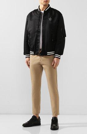 Мужской хлопковые брюки DSQUARED2 бежевого цвета, арт. S74KB0383/S41794 | Фото 2