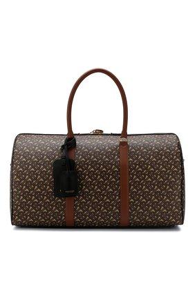 Мужская дорожная сумка BURBERRY коричневого цвета, арт. 8022609 | Фото 1