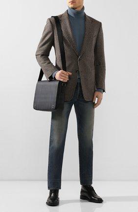Мужская сумка-мессенджер BURBERRY синего цвета, арт. 8023708 | Фото 2