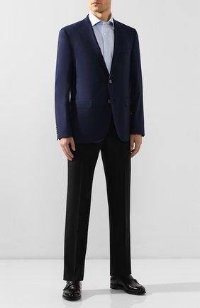 Мужская хлопковая сорочка LUIGI BORRELLI голубого цвета, арт. EV08/LUCIAN0 SS/TS10700 | Фото 2