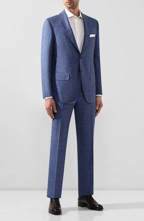 Мужской костюм из смеси кашемира и шелка KITON голубого цвета, арт. UA81K06S20   Фото 1