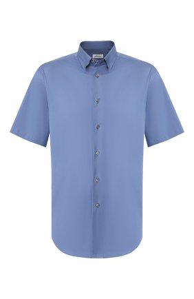 Мужская хлопковая сорочка BRIONI синего цвета, арт. SCDG0L/08010 | Фото 1