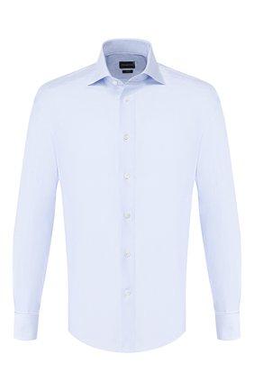 Мужская хлопковая сорочка ERMENEGILDO ZEGNA синего цвета, арт. 701034/9MS4BA | Фото 1