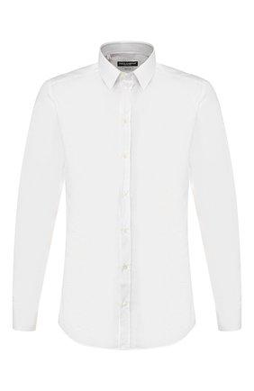 Мужская хлопковая сорочка DOLCE & GABBANA белого цвета, арт. G5EJ0T/FR5XZ | Фото 1