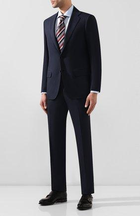 Мужской шерстяной костюм KITON синего цвета, арт. UA81K09828 | Фото 1