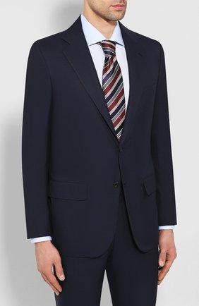 Мужской шерстяной костюм KITON синего цвета, арт. UA81K09828 | Фото 2