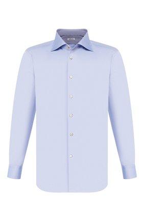 Мужская хлопковая сорочка KITON голубого цвета, арт. UCCEEP2/H0003710/P5 | Фото 1
