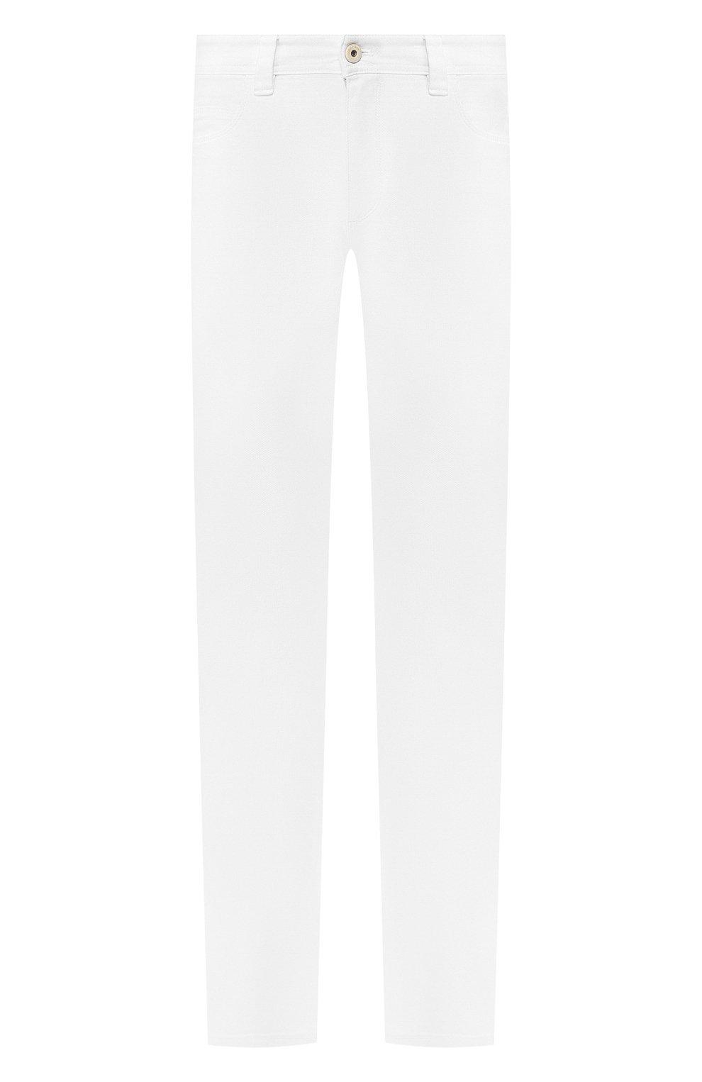 Мужские джинсы LORO PIANA белого цвета, арт. FAG1329 | Фото 1