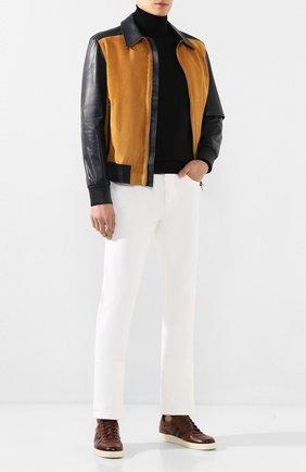 Мужские джинсы LORO PIANA белого цвета, арт. FAG1329 | Фото 2