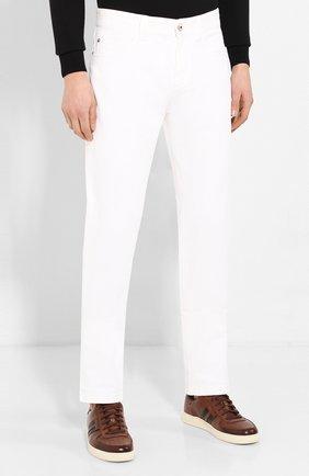 Мужские джинсы LORO PIANA белого цвета, арт. FAG1329 | Фото 3