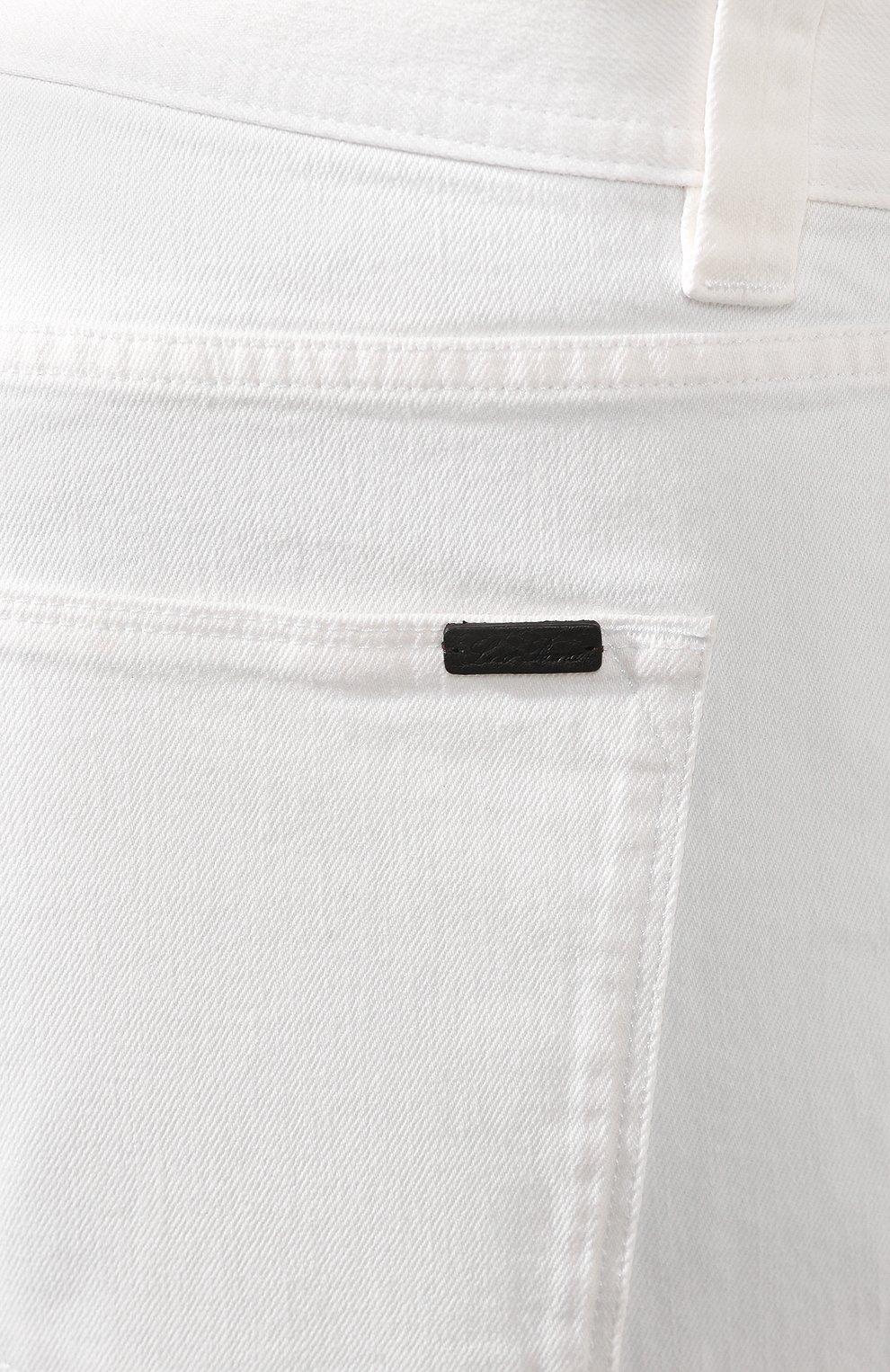 Мужские джинсы LORO PIANA белого цвета, арт. FAG1329 | Фото 5
