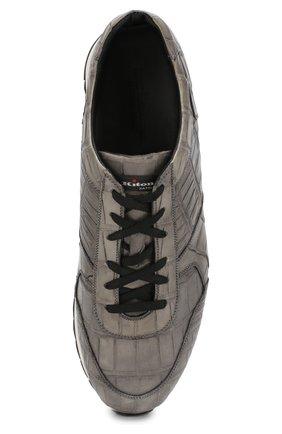 Мужские кроссовки из кожи крокодила KITON серого цвета, арт. USSVLAN/N00102 | Фото 5