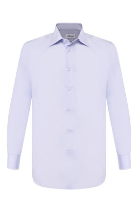 Мужская хлопковая сорочка BRIONI светло-голубого цвета, арт. RCL91T/PZ005   Фото 1