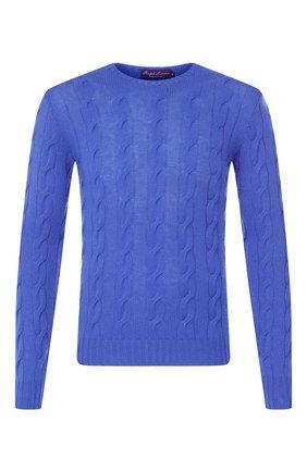 Мужской кашемировый свитер RALPH LAUREN синего цвета, арт. P44/SP068/WF417 | Фото 1