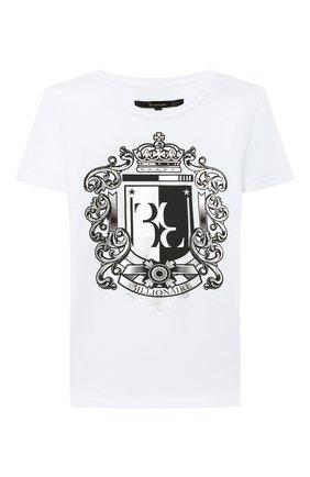 Детская хлопковая футболка BILLIONAIRE белого цвета, арт. B20C BTK0882 BTE014N | Фото 1