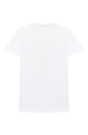 Детская хлопковая футболка BILLIONAIRE белого цвета, арт. B20C BTK0885 BTE014N | Фото 2