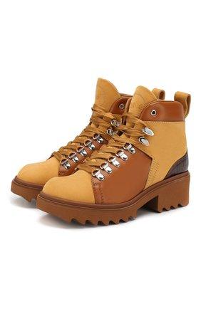 Женские кожаные ботинки bella CHLOÉ коричневого цвета, арт. CHC20S245I7 | Фото 1