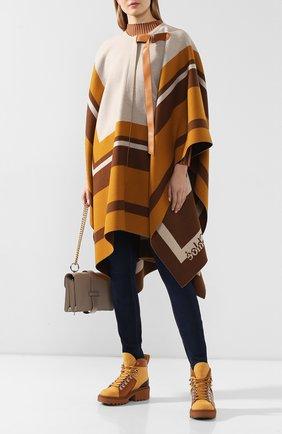 Женские кожаные ботинки bella CHLOÉ коричневого цвета, арт. CHC20S245I7 | Фото 2