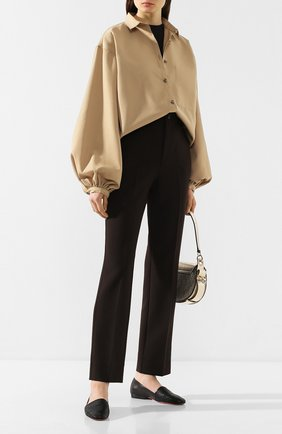 Женские кожаные лоферы SANTONI черного цвета, арт. WUJL58507HI1TMHPN01 | Фото 2