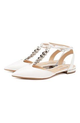 Женские кожаные балетки CASADEI белого цвета, арт. 1G530P010MC04529999 | Фото 1