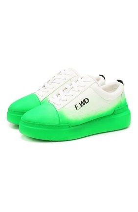 Женские кеды F_WD зеленого цвета, арт. FWS34031A/11032 | Фото 1