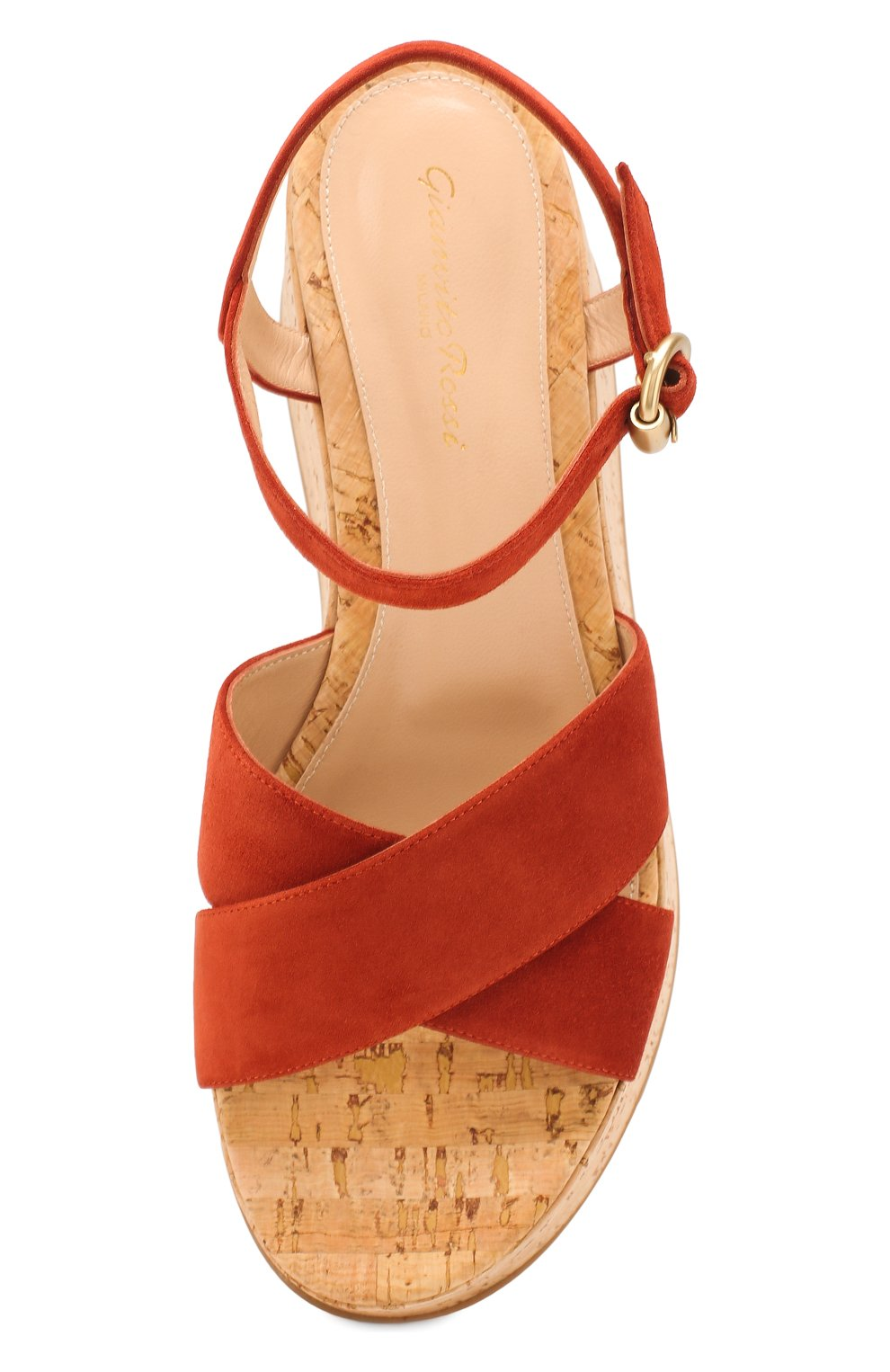 Женские кожаные босоножки GIANVITO ROSSI красного цвета, арт. G31691.20RIC.CSGCRCK   Фото 5