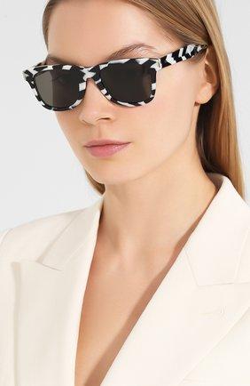 Женские солнцезащитные очки SAINT LAURENT черного цвета, арт. SL 51 | Фото 2