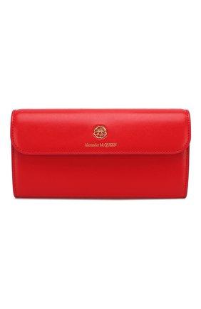 Женские кожаный кошелек на цепочке ALEXANDER MCQUEEN красного цвета, арт. 610194/1CW0T | Фото 1