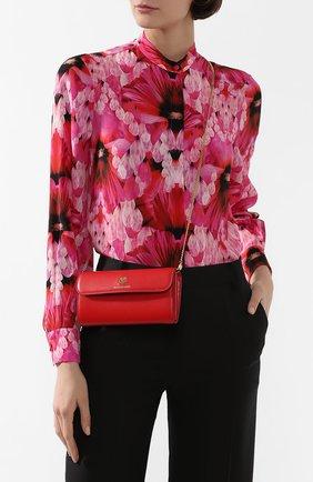 Женские кожаный кошелек на цепочке ALEXANDER MCQUEEN красного цвета, арт. 610194/1CW0T | Фото 2