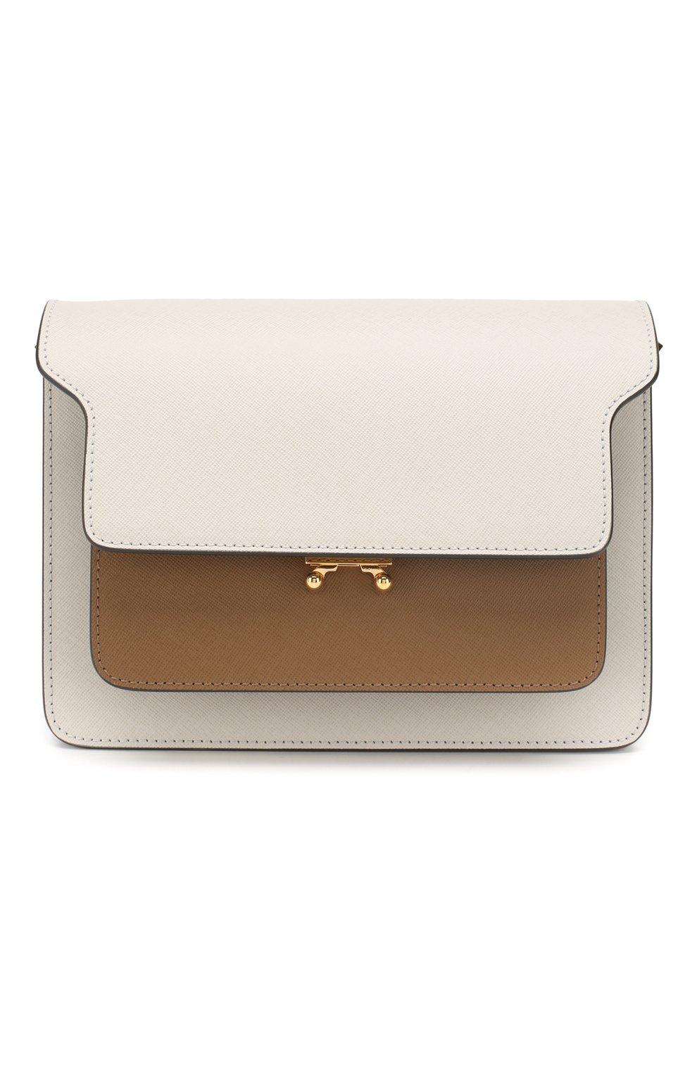 Женская сумка trunk MARNI белого цвета, арт. SBMPN09N05/LV520   Фото 1 (Сумки-технические: Сумки top-handle; Материал: Натуральная кожа; Ремень/цепочка: На ремешке; Размер: small; Статус проверки: Проверена категория)