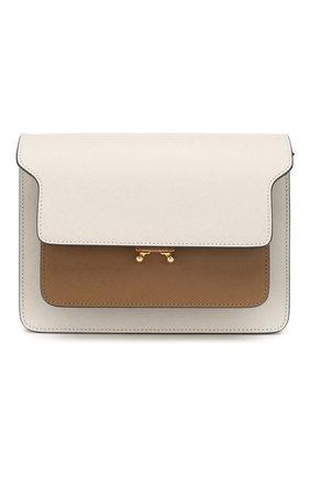 Женская сумка trunk MARNI белого цвета, арт. SBMPN09N05/LV520 | Фото 1 (Статус проверки: Проверена категория; Материал: Натуральная кожа; Ремень/цепочка: На ремешке; Размер: small; Сумки-технические: Сумки top-handle)