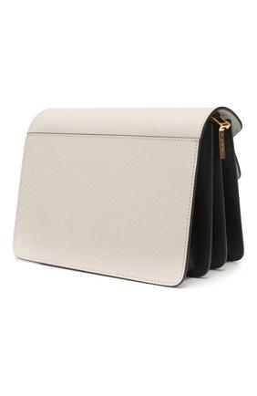 Женская сумка trunk MARNI белого цвета, арт. SBMPN09N05/LV520   Фото 3 (Сумки-технические: Сумки top-handle; Материал: Натуральная кожа; Ремень/цепочка: На ремешке; Размер: small; Статус проверки: Проверена категория)