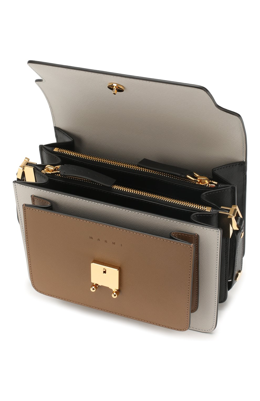 Женская сумка trunk MARNI белого цвета, арт. SBMPN09N05/LV520   Фото 4 (Сумки-технические: Сумки top-handle; Материал: Натуральная кожа; Ремень/цепочка: На ремешке; Размер: small; Статус проверки: Проверена категория)