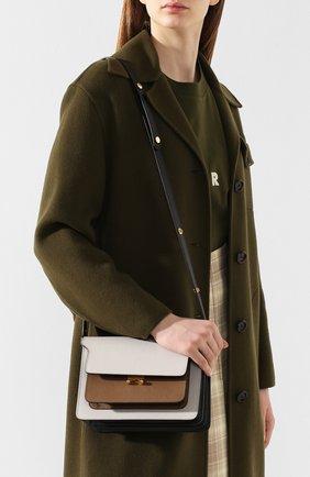 Женская сумка trunk MARNI белого цвета, арт. SBMPN09N05/LV520   Фото 5 (Сумки-технические: Сумки top-handle; Материал: Натуральная кожа; Ремень/цепочка: На ремешке; Размер: small; Статус проверки: Проверена категория)