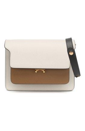 Женская сумка trunk MARNI белого цвета, арт. SBMPN09N05/LV520   Фото 6 (Сумки-технические: Сумки top-handle; Материал: Натуральная кожа; Ремень/цепочка: На ремешке; Размер: small; Статус проверки: Проверена категория)