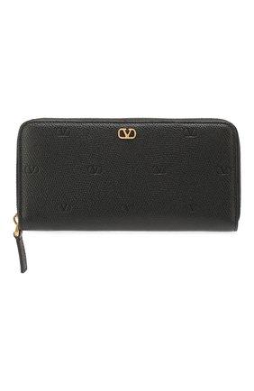 Женские кожаный кошелек valentino garavani VALENTINO черного цвета, арт. TW2P0645/GFP | Фото 1