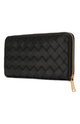 Женские кожаный кошелек BOTTEGA VENETA черного цвета, арт. 608051/VCPP2 | Фото 2