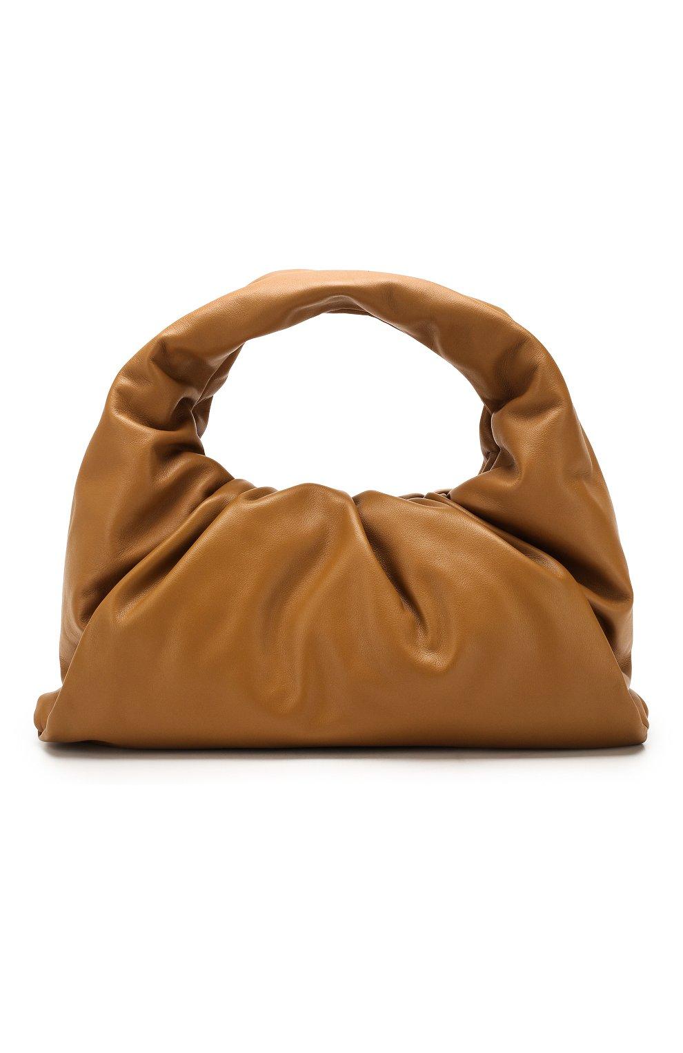 Женская сумка shoulder pouch BOTTEGA VENETA бежевого цвета, арт. 610524/VCP40   Фото 1