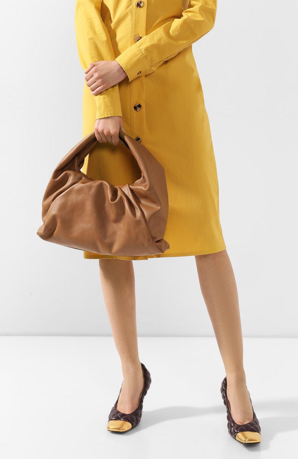 Женская сумка shoulder pouch BOTTEGA VENETA бежевого цвета, арт. 610524/VCP40   Фото 2