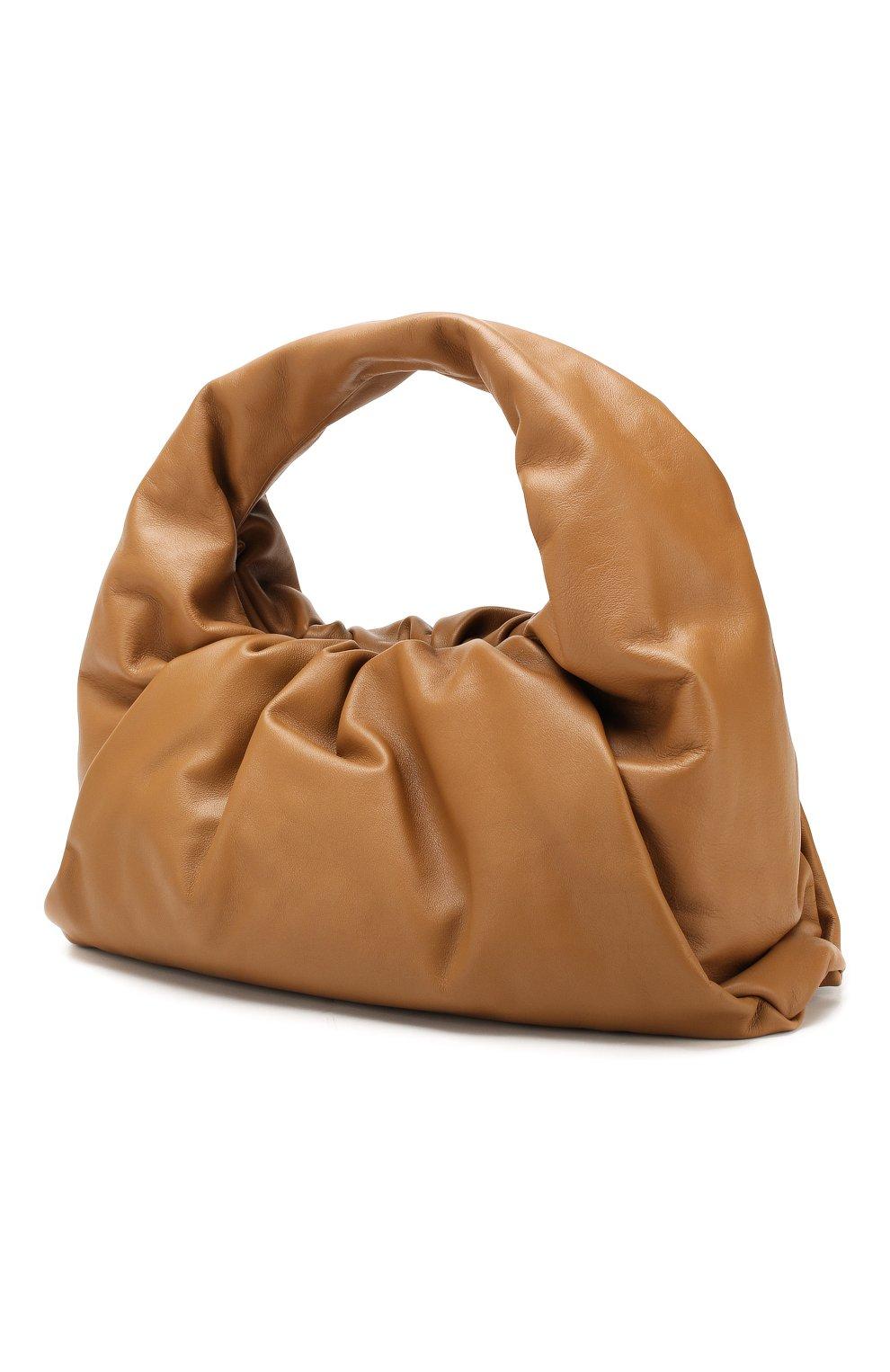 Женская сумка shoulder pouch BOTTEGA VENETA бежевого цвета, арт. 610524/VCP40   Фото 3