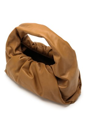 Женская сумка shoulder pouch BOTTEGA VENETA бежевого цвета, арт. 610524/VCP40   Фото 4