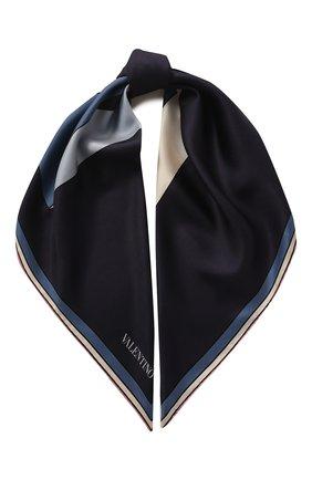 Женский шелковый платок valentino garavani VALENTINO синего цвета, арт. TW2EI114/CRF   Фото 1