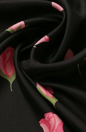 Женский шелковый платок valentino garavani VALENTINO черного цвета, арт. TW2EI114/INT   Фото 2