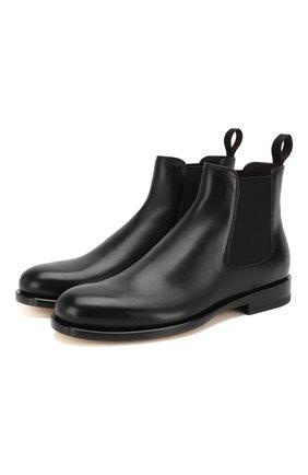 Женские кожаные челси SANTONI черного цвета, арт. WTKM58071BA3CLGAN01 | Фото 1