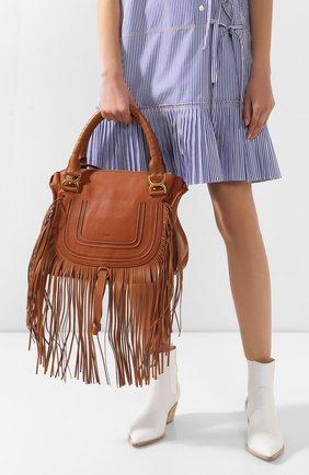 Женская сумка marcie CHLOÉ коричневого цвета, арт. CHC20SS860C33   Фото 2